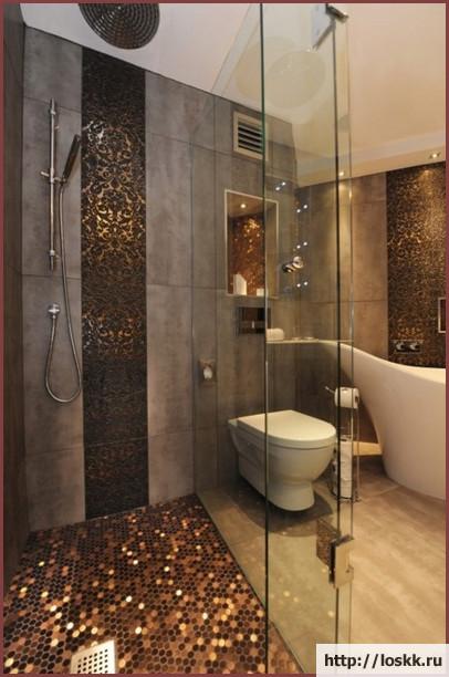 Красивый интерьер ванной комнаты, фото-3