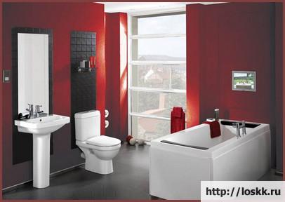 Красивый интерьер ванной комнаты, фото