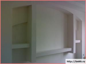Полки из гипсокартона: фото, описание-1